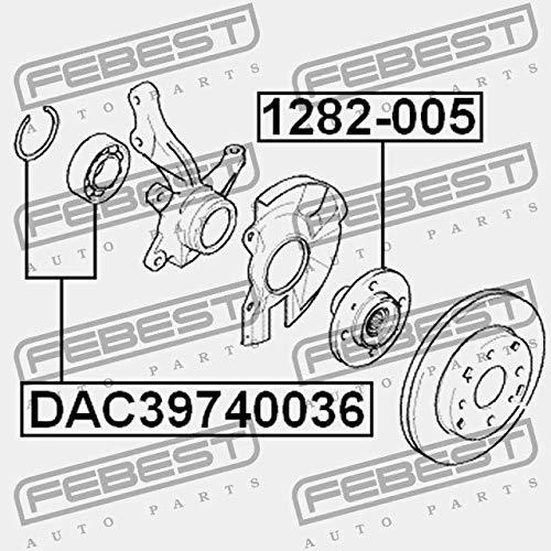 DAC39740036 Febest COJINETE DE CUBO ANTERIOR 39X74X36X34
