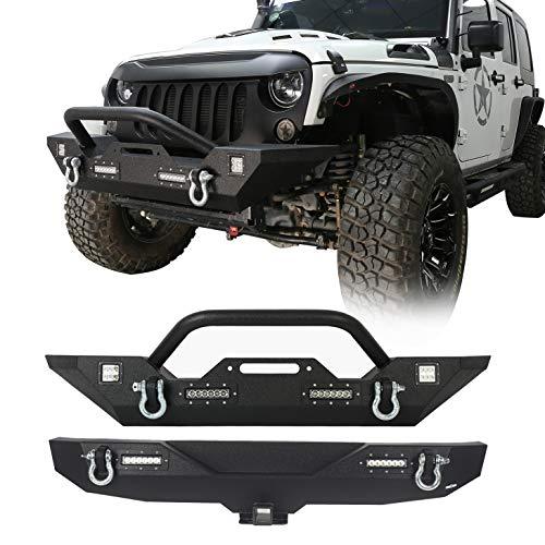 u-Box Jeep Wrangler Front & Rear Bumper Combo Kit - Different Trail (Jeep Wrangler JK 2007-2018)