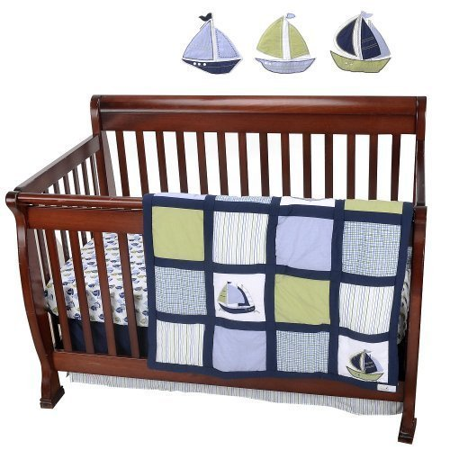 Nautica Kids Zachary 7-Piece Crib Bedding Set