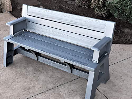 (Premiere Products 5RCATPG Convert a Bench, Platinum Gray)
