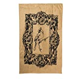 Black Cardinal Burlap House Flag