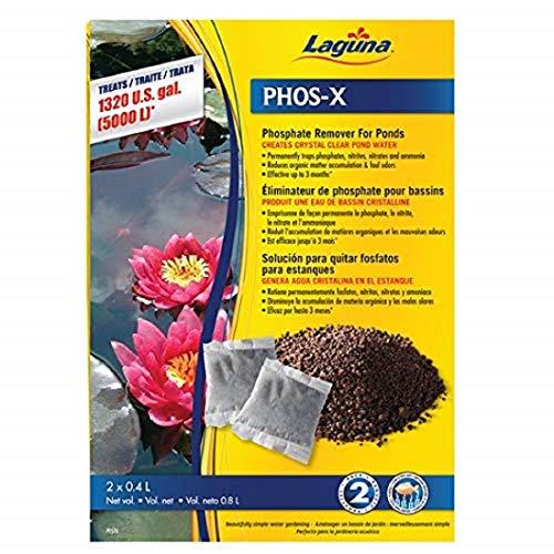 (Laguna Phos-X Phosphate Remover, Water Treatment , 2-Pack, Net Vol. 0.8 L)