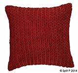 Split P Designs Velvet Pillow 18'' Red