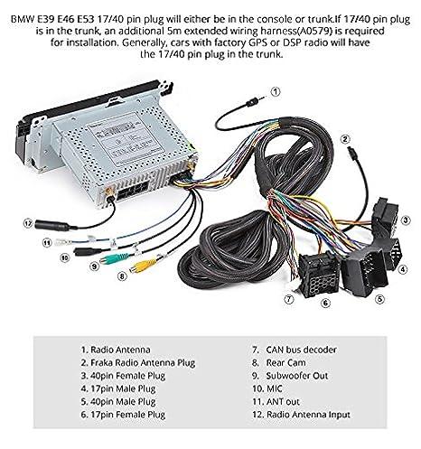 e46 bmw 17 pin plug wiring car fuse box wiring diagram u2022 rh suntse de Vauxhall Astra Eonon Double DIN Installation Diagrams