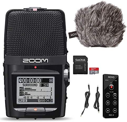 Zoom H2n Portable Movo ESSENTIALS product image