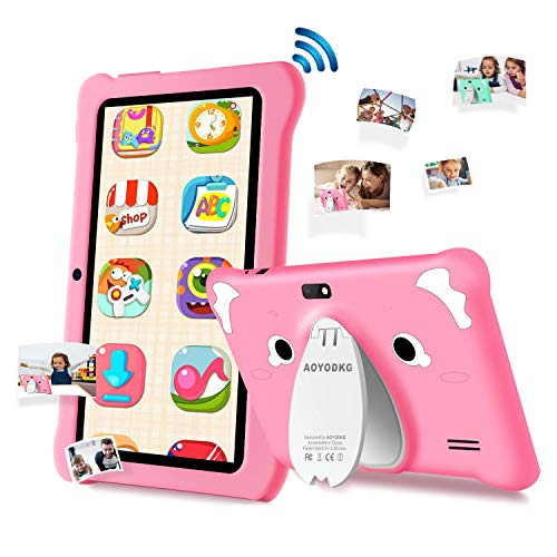 Kids Tablet 7 inch Android 9.0 Tablet PC for Toddlers, GMS Certificated, 3GB RAM+32GB ROM, Quad-Core, Tablet for Kid…