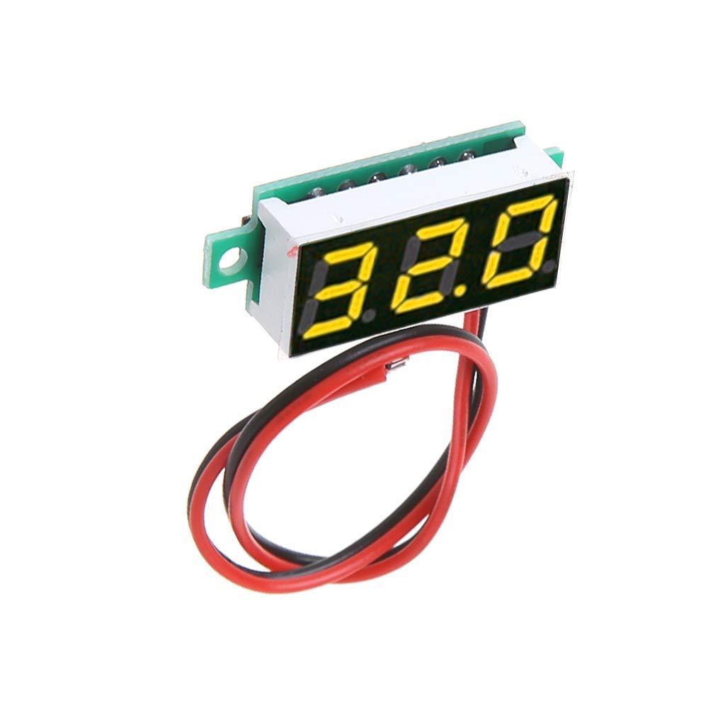 Xineker 0,28 Pouces DC 2.5V-30V 2 Fils Mini Digital Voltmeter Testeur De Tension M/ètre LED /Écran Pi/èces /électroniques