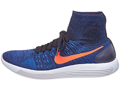 Nike Lunarepic Flyknit, Zapatillas de Running para Hombre Negro (Negro (black/total crimson-racer blue))