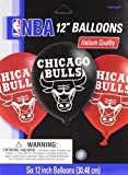 Amscan Sports & Tailgating NBA Printed Latex Balloons Childrens Party , Chicago Bulls, 72 Pieces