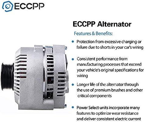 Alternators ECCPP 130A S6 IR//IF 7771 for Ford Mustang 1994-2000 Thunderbird Mercury Cougar 1994-1997 3.8L F8ZU-10300-AA