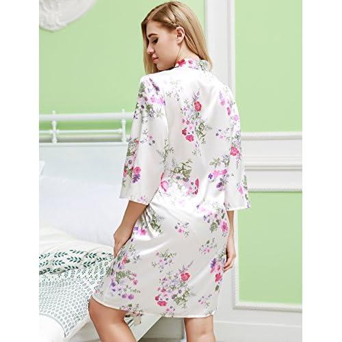 Ekouaer Sleepwear Women Nightshirt Boyfriend Sleepshirts Long Sleeve Button  Down Nightgown Dress new 25b5af065