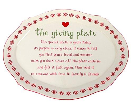 (DEI 81555 Ceramic Giving Plate, 9