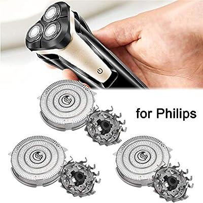 Yunt-11 3PCS Cabezales de afeitadoras de Repuesto para Philips, Cuchillas de Afeitar eléctricas con Cabeza de ...