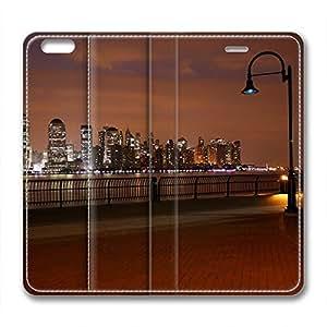 Night Scene Design High Quality Leather Iphone 6 Case Street Lamp