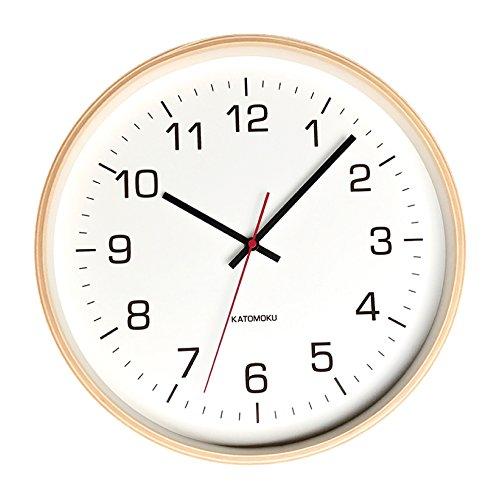 KATOMOKU plywood wall clock 4 km-61NRC ナチュラル 電波時計 連続秒針 φ304mm B076BK856R