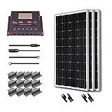 Renogy 300 Watt 12 Volt Monocrystalline Solar Starter Kit with 30A PWM Controller - LCD Display