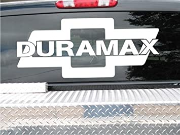 Amazoncom Duramax Diesel Chevy Bowtie III Window Decal Sticker - Chevy window decals for trucks