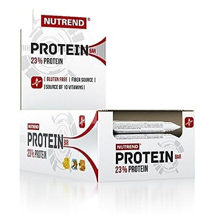 Nutrend PROTEINE Bar 23% 24x55g Paquete plátano Flavor una proporción ideal de proteínas y carbohidratos