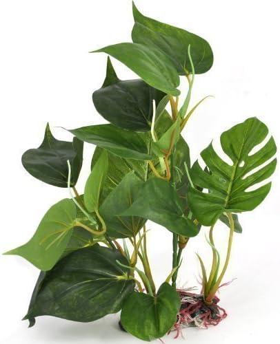 Txyk Decoraci/ón Hojas Verdes para Acuario Plantas Artificiales para Acuarios Que Lucen como Plantas Verdaderas 24cm