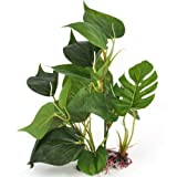DIGIFLEX 30 cm künstliche Aquariumpflanze, grüne echt aussehende Aquarium-Zierblätter