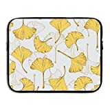 Ginkgo Leaves Laptop Sleeve Egiant Waterproof Protective Fabric Notebook Bag Case 13 Inch