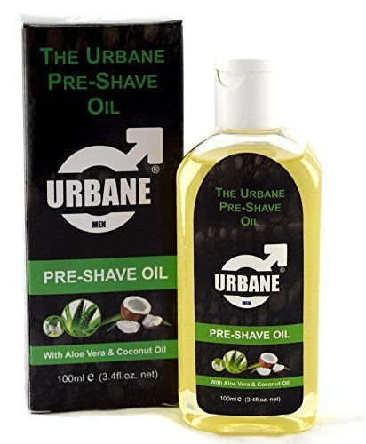 Urbane Men Pre-Shave Oil for Manual & Electric 100ml (Aloe Vera & Coconut (Pre Electric Shave Lotion)