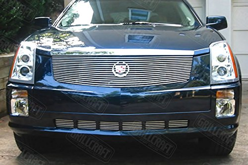 - Grillcraft CAD1630-BAC BG Series Polished Aluminum Upper 1pc Billet Grill Grille Insert for Cadillac SRX