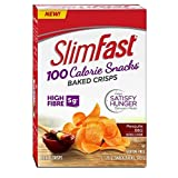 Slim Fast Advanced Nutrition 100 Calorie Snacks, Baked Crisps, Gluten Free, Natural Flavour Mesquite BBQ, 5 x 28g Snack Packs To Go; 140g Total Per Package of 5 Snack Packs