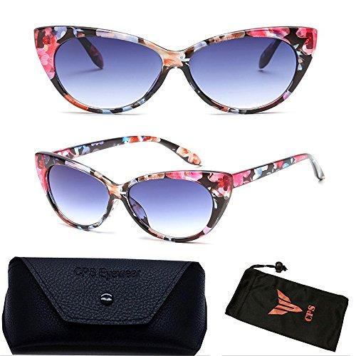 Retro Classic Floral Flower Transparent Sunglasses + Hard - With Glasses Celeb