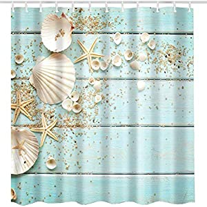 51yWQITrcqL._SS300_ 200+ Beach Shower Curtains and Nautical Shower Curtains