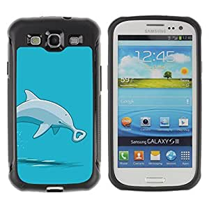 Hybrid Anti-Shock Defend Case for Samsung Galaxy S3 / Bottlenose Dolphin
