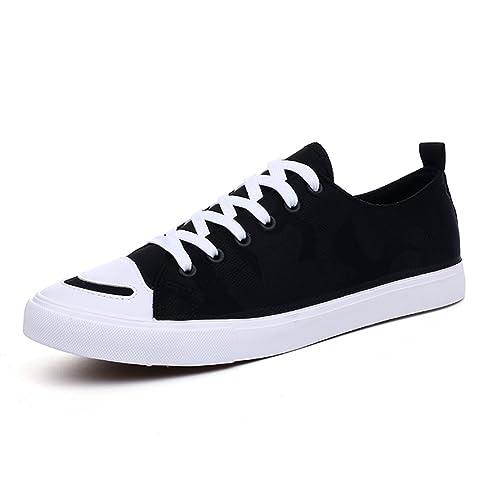 Zapatillas Lona de Lona Zapatillas Hombre,Young Ming Walking Zapatillas Fitness 025873
