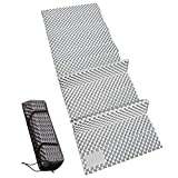 REDCAMP Closed Cell Foam Sleeping Pad for Camping, 22' Wide Lightweight Folding Camping Pad for Hiking Backpacking, 72'x22'x0.75', Grey 1 Pack