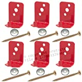 (Lot of 6) Fire Extinguisher Bracket, Wall Hook, Mount, Hanger, Universal for 5 Lb. Extinguishers NO SCREWS or WASHERS