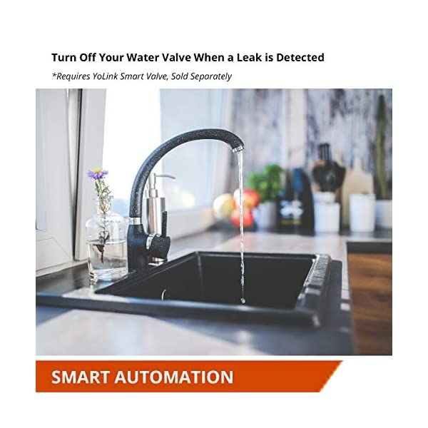 Smart Leak Sensors, YoLink 1/4 Mile World's Longest Range Wireless Smart Water Leak Sensor Compatible with Alexa and… 5