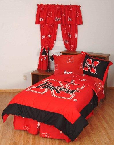 College Covers Nebraska Cornhuskers Bed in a Bag Twin - With Team Colored (Nebraska Cornhuskers Twin Comforter)