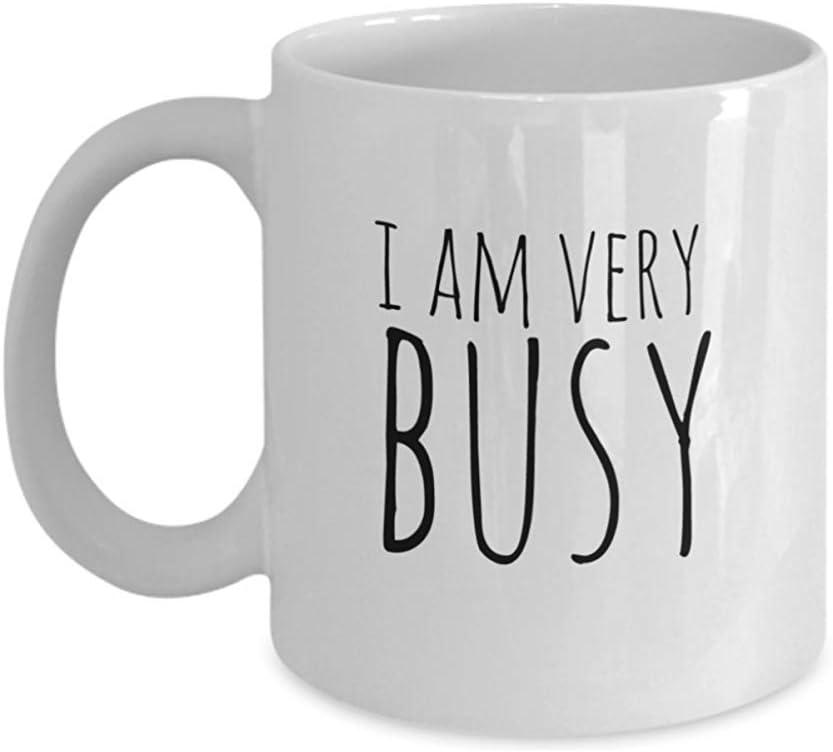 Taza De Cerámica,Estoy Muy Ocupado - Taza De Café Divertida De Oficina, Regalo Para Compañeros De Trabajo, Jefe, Gerente