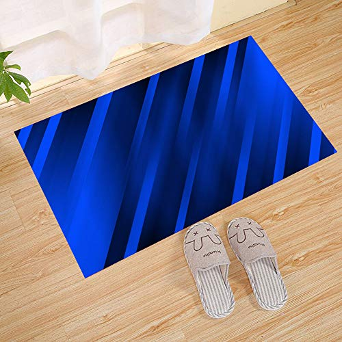 JANNINSE Navy Blue Gradient Solid Square Diagonal Stripe Geo
