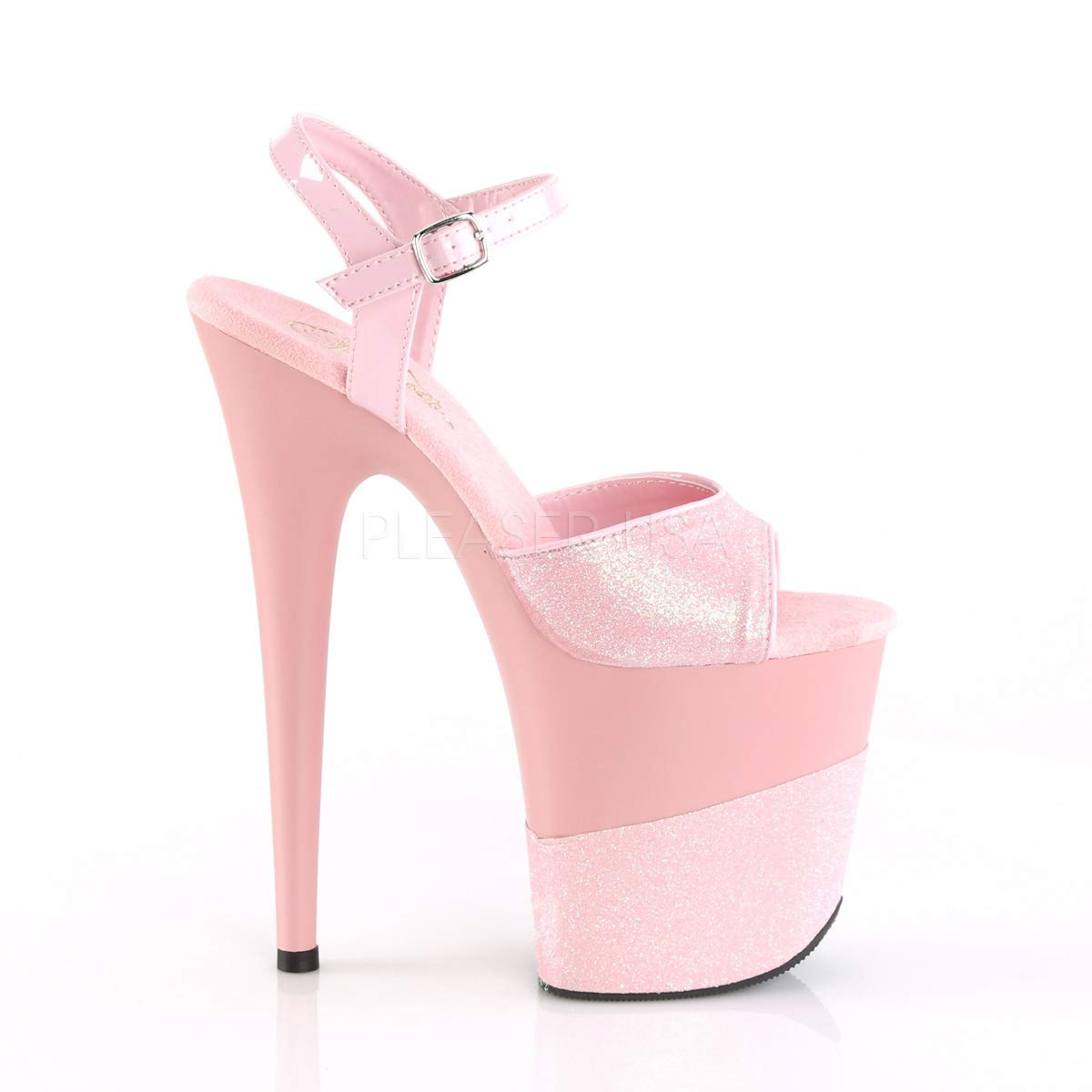 d140825b3b52 Amazon.com   Pleaser Women's Flamingo-809-2G Ankle-Strap Sandal   Platforms  & Wedges