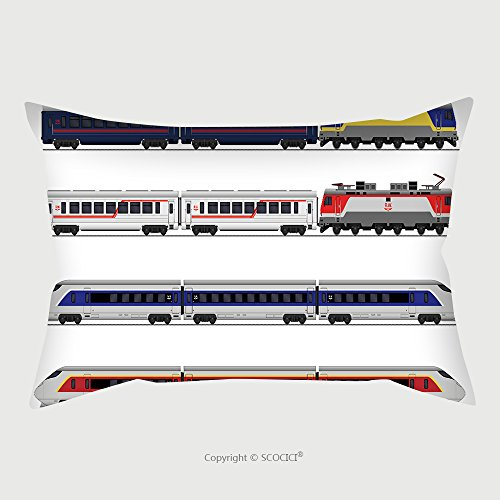 Custom Satin Pillowcase Protector Passenger Express Train Railway Carriage Set 509301019 Pillow Case Covers Decorative by chaoran
