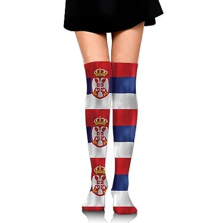 RobotDayUpUP Wave - Calcetines Largos para Mujer con Bandera ...