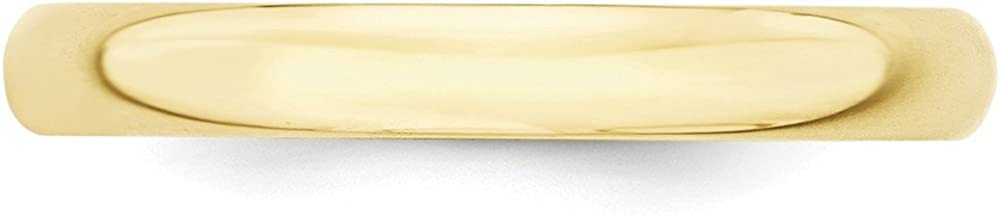 BRIDALCOLLECTION 10K Yellow Gold 3.00MM LTW Half Round Wedding Band Ring