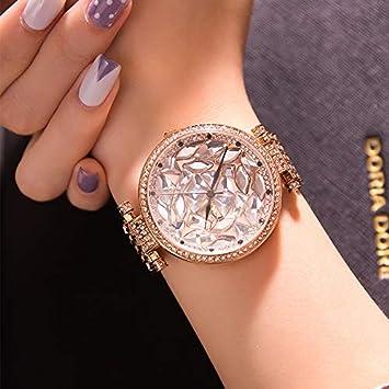 LKTGBRCVZJU Relojes Marea Tendencia Completa Diamante Reloj Grande Reloj de Pulsera de Moda Femenina a Prueba