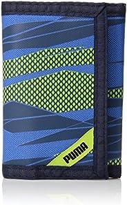 PUMA Carteira infantil com dobra tripla, Azul marinho/verde, tamanho nico