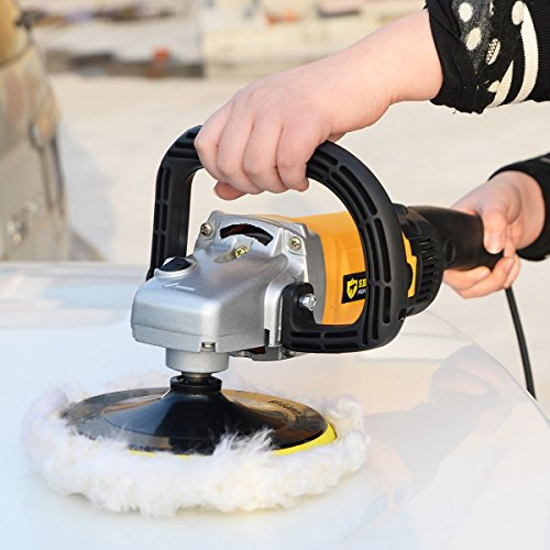 New 7'' Electric 6 Variable Speed Car Polisher Buffer Waxer Sander Detail Boat by Mybesty (Image #2)