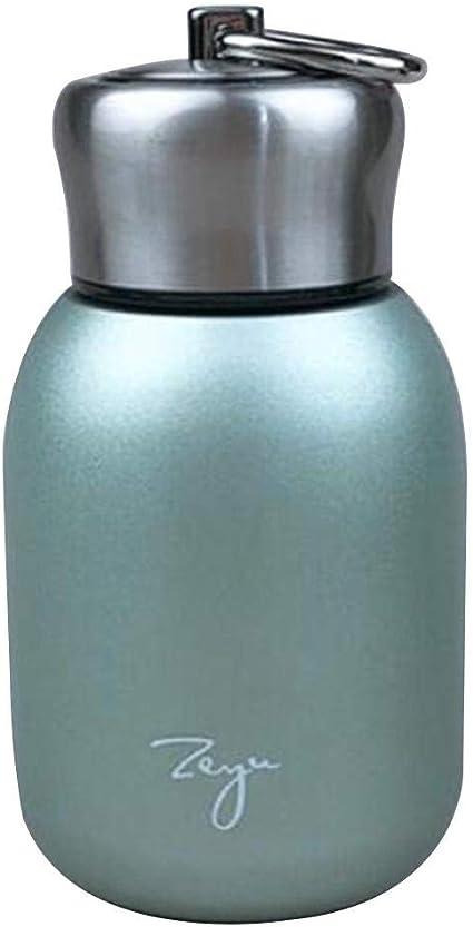 Multicolore seawe Bottiglie dAcqua,280ml Bottiglia Thermos Portatile-Fodera A Doppio Vuoto,Mini Tazza Portatile di Moda in Acciaio Inossidabile Creativo Carino Ventre Tazza13.7 7.2cm