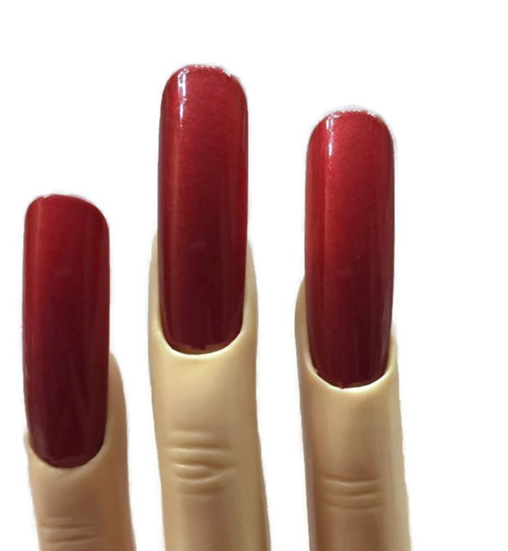 Amazon.com : Extra Wide Red Polished False Nails for Crossdressing ...