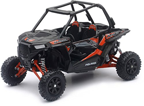 NEW-RAY Orange Cycle Parts Die-Cast Replica Toy 1:18 Scale Polaris RZR XP 1000 Titanium Metallic UTV by NewRay