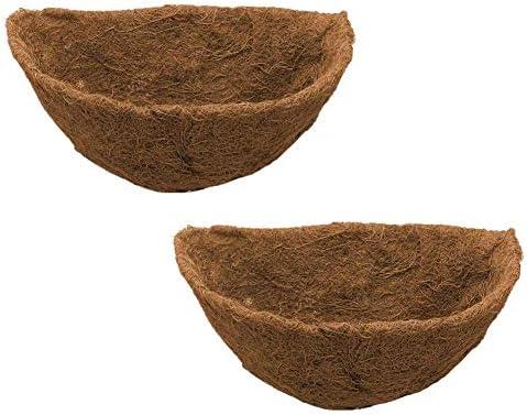 wendaby Kokoseinlage für Hängeampel Blumenampel 25cm 30cm 35cm Halbrund kokoseinlagen für Pflanzen aus Coco Faser Natürliches Faltbares Einstellbares Ersatzbares Pad