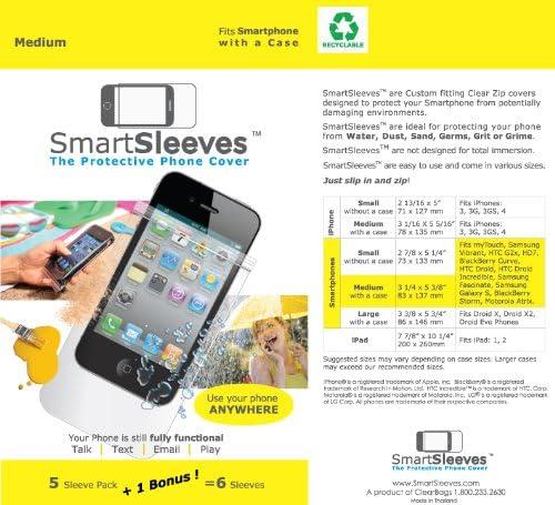ClearBags SmartSleeves PS35 Mangas para teléfonos Inteligentes de tamaño Medio – 1 Pack – empaquetado al por Menor – Claro: Amazon.es: Electrónica